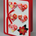 1002 Quilted Hearts Handmade Card - Lori Lai - www.HankoDesigns.com