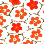 RCK9152 Red Floral Combs Washi - www.HankoDesigns.com - 8.5