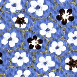 RCK9155 Blue Bumble Blooms Washi - www.HankoDesigns.com -  8.5