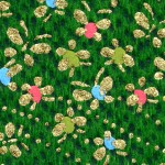 RCK9159 Green Scattered Spring Washi Paper - www.HankoDesigns.com