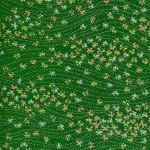 "RCK9159 Green Scattered Spring Washi Paper - www.HankoDesigns.com - 8.5""x11"" Japanese Washi Yuzen Paper - Fall 2014"