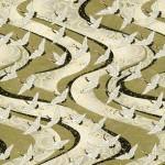 Golden Flying Cranes Washi Paper
