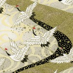 RKB8519 Golden Flying Cranes Washi