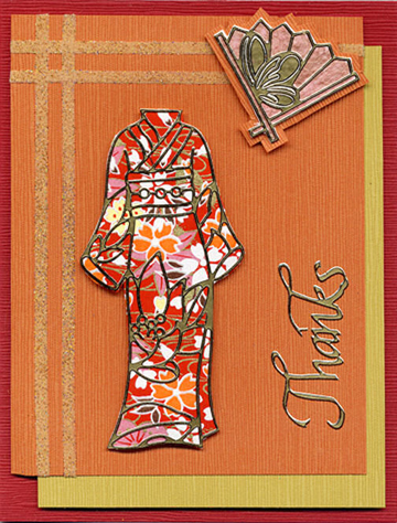 Kimono Thank You Card by Karen Swemba