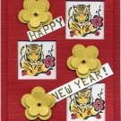 Tigers and Flowers Sample Card by Lori Lai