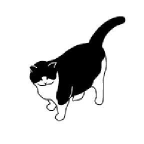 HG111 greeting cat cats gato kitty neko Hanko Designs