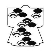 HJ123 Fan Kimono Stamp