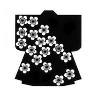 HJ128 Plum Flurry Kimono Stamp - Hanko Designs