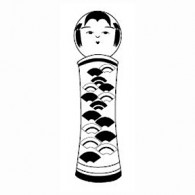 HJ135 Fan Kokeshi Stamp