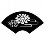 HK107 Chrysanthemum Fan Stamp - Hanko Designs.com - www.HankoDesigns.com