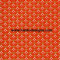 RA2176 Red Golden Circles Washi