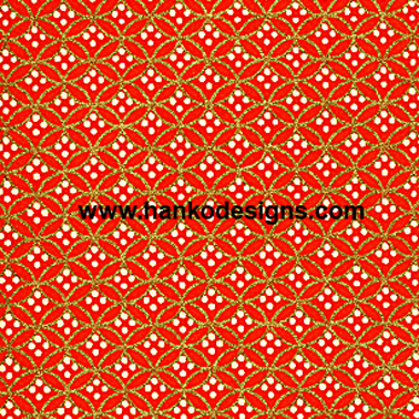 RA2176 Red Golden Circles Washi