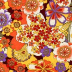 RA428 Orange Sakura Splendor Washi