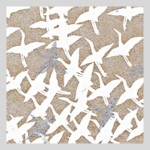 RATSURU Silver Flying Cranes Washi