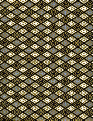 RC1231 Golden Diamonds Floral Washi