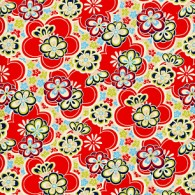 RC7497 Red Retro Spring Washi