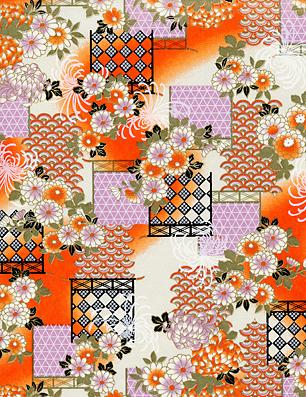 RKB7914 Orange Chrysanthemum Floral
