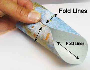 Open sheet and roll into a tube