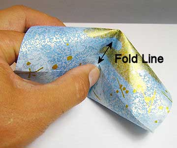 Push in along the fold line