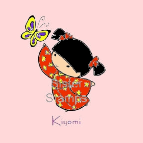 SS0001 Kiyomi Butterfly Sister Stamp