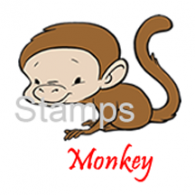 10 130201 Monkey Sister Stamps