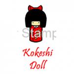 SS0031 Kokeshi Doll - Sister Stamps of Hawaii
