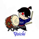 12 130401 Yoichi Sister Stamps Taiko