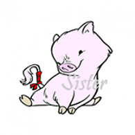 SS0045 Year of the Boar - Sister Stamp from Hanko Designs www.HankoDesigns.com