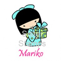SS0023 Mariko w/Present Sister Stamp