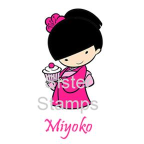 SS0024 Miyoko w/Cupcake Sister Stamp