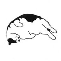 HG104 Napping Cat 2 cats gato kitty neko Hanko Designs