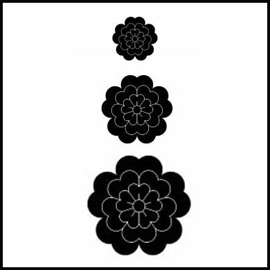 HX161 Floral Layer Stamp Set - 3 Stamps - Hanko Designs - www.HankoDesigns.com