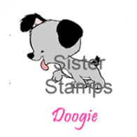 15 130701 Doggie-3 Sister Stamps dog