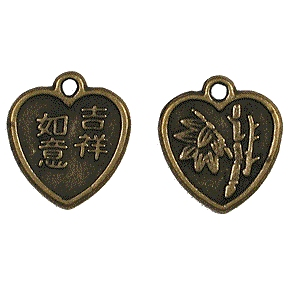 CM008 Good Luck Heart Charm