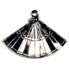 CM012 Silver Fan Charm