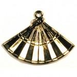 CM013 Gold Fan Charm