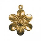CM015 Small Gold Flower Charm