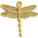 CM026 Gold Medium Dragonfly Charm