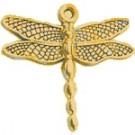 CM026 Gold Medium Dragonfly Charm