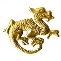 CM037 Dragon Charm Gole - www.HankoDesigns.com
