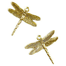 CM041Gold Very Small Dragonfly Charm