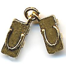 CM050 Gold Geta Slipper Charm