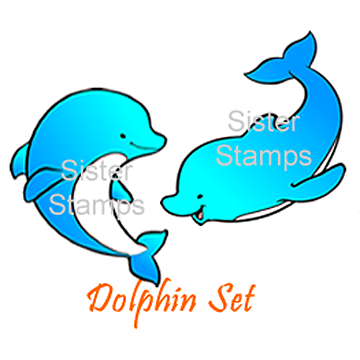 16 Dolphin Set - Sister Stamps - Sea Creatures - www.HankoDesigns.com