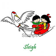 17 Sleigh Tis the Season - Sister Stamps - www.HankoDesigns.com