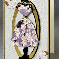 DG2001h Dress Card. by Doraya Goeppert - www.HankoDesigns.com