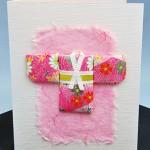 Kimono Washi Paper Quilting Card - Hanko Designs