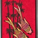KS3001 - Red Koi Card - by Karen Swemba - www.HankoDesigns.com