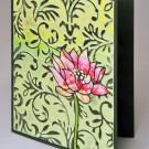LL1001h Rose Lotus Handmade Card - Lori Lai - www.HankoDesigns.com