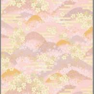 RKB8526 Pink Floral Hills Washi Paper Bulk - www.HankoDesigns.com