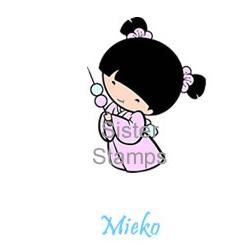 SS0063 - 19 Mieko w Mochi Sister Stamps - Hanko Designs - www.HankoDesigns.com